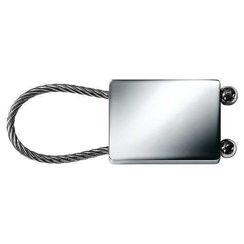 Schlüsselanhänger Cable Rectangle, silber