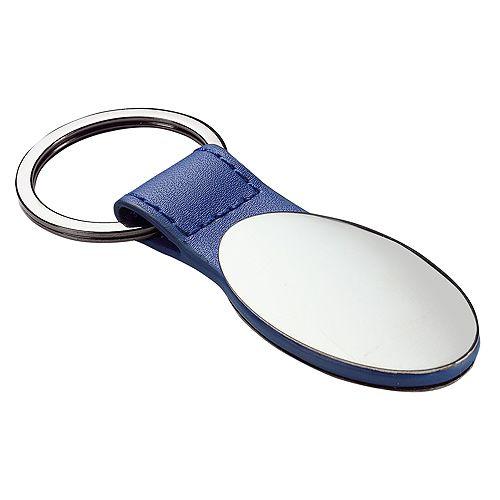 Schlüsselanhänger Belfast oval, schwarz