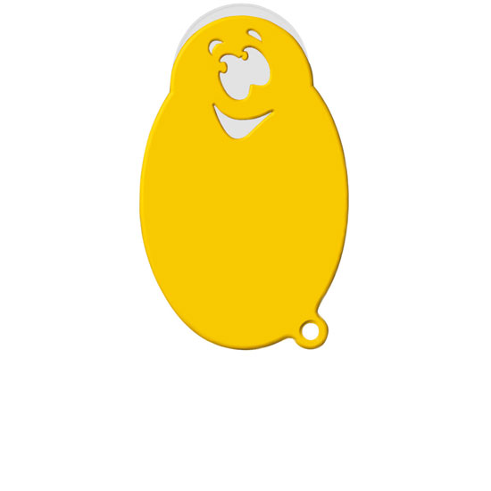 "Chiphalter mit 1€-Chip ""Smiley"""
