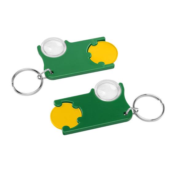Chiphalter mit 1€-Chip und Lupe